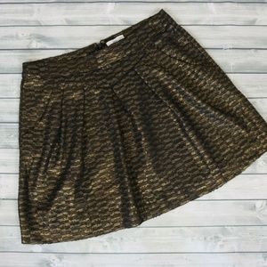 GAP Holiday Metallic Shimmer Black/Bronze Skirt S